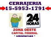 Cerrajeria 24 hs ciudad jardin tfno 15-5953-1791 zna oeste