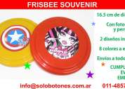 Frisbee souvenir para cumpleaÑos eventos con tu diseÑo