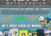 Sublimadoras neumaticas auka metalurgica 1m x 80 cm doble bandeja