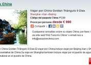 Viajar por china golden triángulo 9 dias