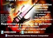 Clases de guitarra eléctrica y clásica en zona sur banfield