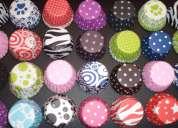 Pirotines para cupcakes lisos de colores y estampados con diseÑos
