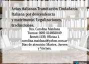 Ciudadanía italiana dra. carolina maidana