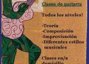 Clases de guitarra en villa lugano principiantes o avanzados folk rock blues tango electrica criolla