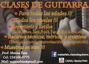 Clases de guitarra zona once,recoleta,barrio norte,palermo,belgrano,etc !!!!