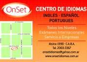 cursos de inglés, portugués y español para extranjeros
