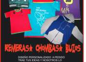 Remeras buzos estampados bordados zona norte