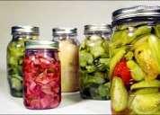 Berenjenas en escabeche pickles, ajies en vinagre, venta por mayor