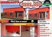 Tene tu casa completa por $222.000 industrializada