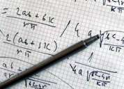 Clases de matemática, física, biofísica y química