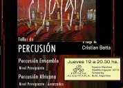 Taller de percusión africana x cristian botta