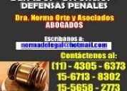 Abogada,divorcios,penalista,sucesiones,desalojos,despidos,4305-6373.20 años experiencia