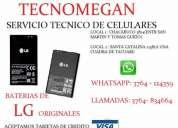 Tecnomegan vendemos baterias lg originales, consultar precio!