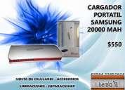 Vendo cargador portatil samsung 20000mah