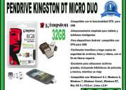 Vendo pendrive kingston 32gb dt microduo pc tablet smartphone otg