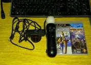 Vendo kit move playstation 3  juego!,buen estado!