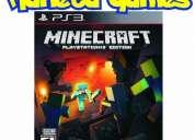 Vendo minecraft playstation ps3 nuevos caja cerrada