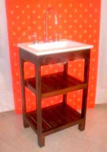 Venta de mueble para ba o 50 con bacha sin griferia san for Griferia para lavatorio bano