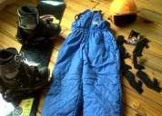 Vendo tabla de snow c/fijaciones  botas  casco  pantalón