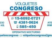 Volquetes congreso alquiler contenedores zona capital caba