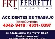 Ferretti abogados | accidentes de trabajo art en lanus  tel [43429418]