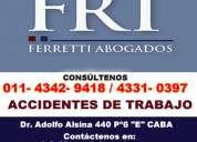Ferretti abogados | accidente laboral zona lanus este tel [4342 9418]