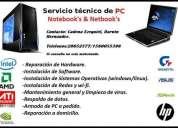 Servicio tecnico de pc. reparacion. instalacion. capital federal