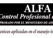 Alfa control profesional de plagas,consultar!