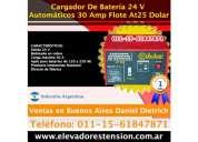 Cargador inteligente salida 24 v para grupos electrogenos