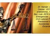 Abogado en posadas, misiones 0376154379421 estudio jurìdico 24hs
