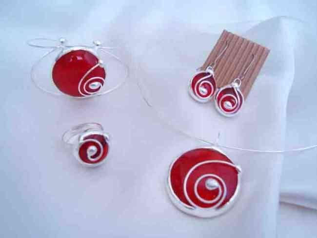 Bijouterie artesanal en vidrio