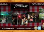 Tomasso pizza party para eventos