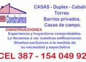 Construimos casas, duplex, cabañas