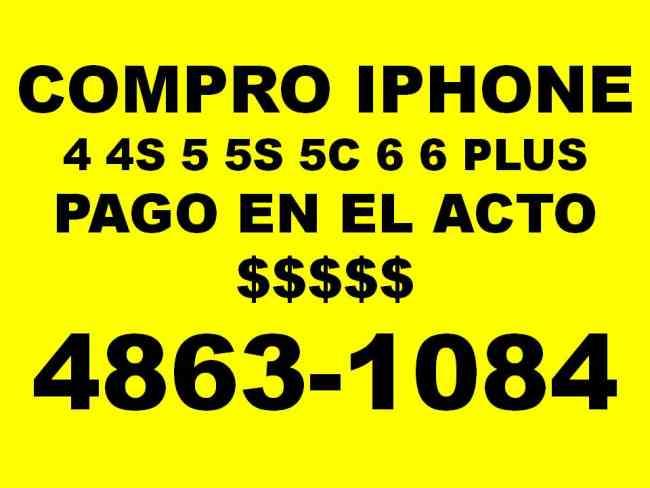 EFECTIVO EN EL ACTO compro iphone 4 4s 5S 5c 6 6 plus llamar 48631084 no respondo mensajes.