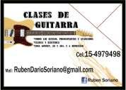 Clases de guitarra particular(gonnet) y a domicilio