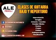 Clases de guitarra y bajo - caseros / villa bosch - ale fenili