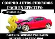 Compro autos chocados. pago en efectivo!!!