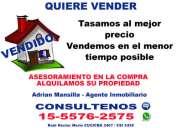Tasacion de su propiedad zona caballito, belgrano r, palermo, barrio norte llame tfno (15-5576 2575)