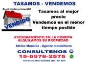 Tasamos y vendemos zna recoleta, belgrano c, palermo, barrio norte  tel [1555762575]
