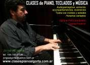 Clases particulares, piano,teclados, profesor