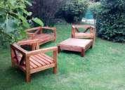 Juego de muebles de jardín en madera