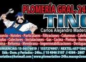 Plomero gasista ((45842887-153-7274907-1549463107)) destapaciones 24 hs
