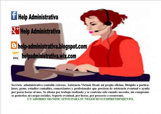 Servicio Administrativo Contable Externo y Asistencia Virtual