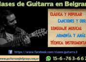 Clases de guitarra belgrano y villa urquiza