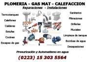 Plomero gas calefacción mar del plata