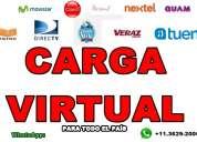 Distribuidores/vendedores de recarga virtual en todo mdz