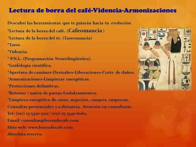 LECTURA DE BORRA DEL CAFÉ-ARMONIZACIONES -VIDENTE