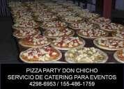 servicio de pizza party