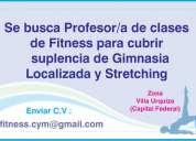 Buscamos profesor/a de fitness