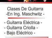Clases de guitarra a domicilio zona norte ing maschwitz